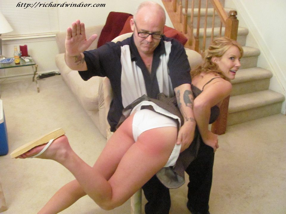 panties spanking nylon White