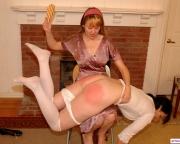 Honey spanked in panties and pantyhose