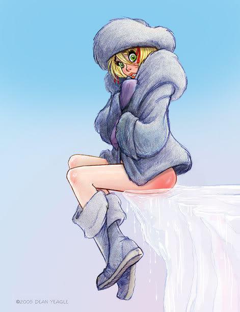 Spank drawing girl