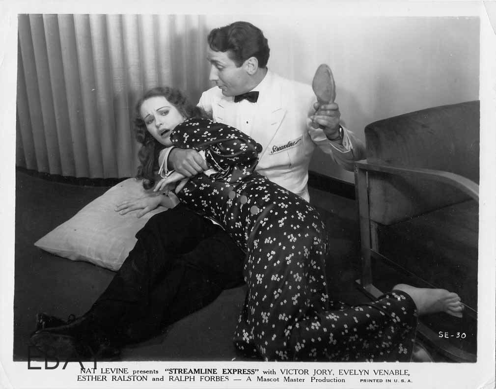 Victor Jory spanks Evelyn Venable Streamline Express