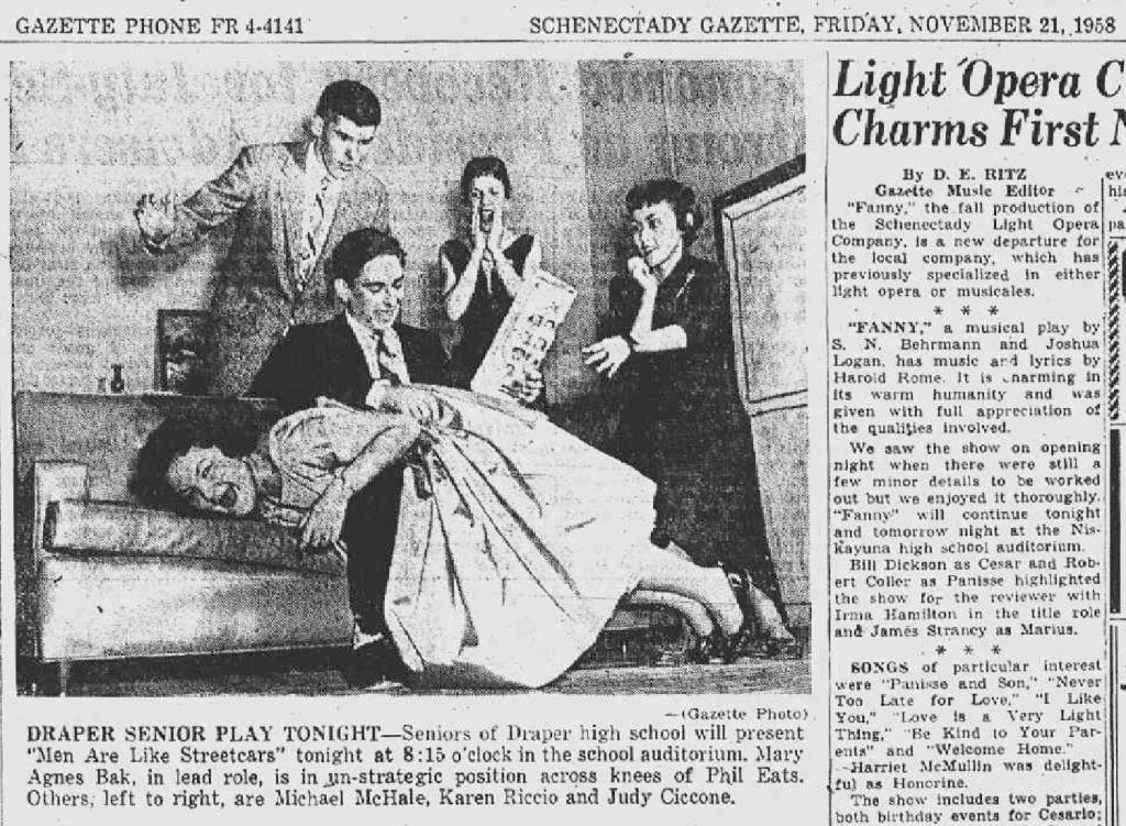 Schenectady NY Gazette 1958